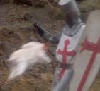 Killer bunny menacing the quest